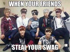 BTS stealing Sugas hairstyle