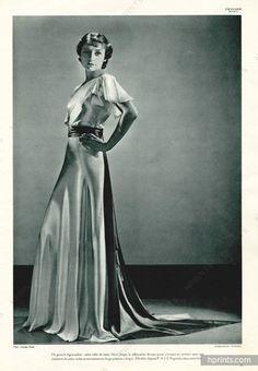 Madeleine Vionnet 1934 white satin, Evening Gown, Photo Georges Saad