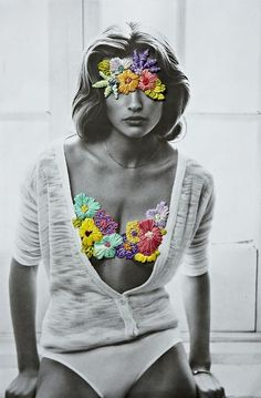 mirnah: Embroidery on photos isn't anything new, but Jose Ignacio Romussi has made it look absolutely terrific.