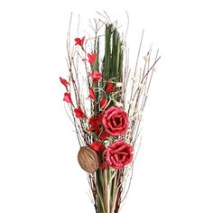 Red Rose Bouquet | Decorative Botanicals | Wh -- Vyn Flowers. Other colours available at vynflowers.com