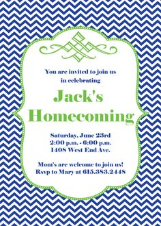 35 Best Homecoming Party Invitations Welcome Home Party