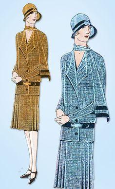 1920s VTG Ladies Home Journal Sewing Pattern 5950 Uncut Ladies Flapper Dress 38B #LadiesHomeJournal #FlapperFrock