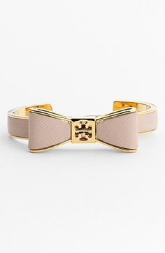 Tory Burch Bow Leather Cuff
