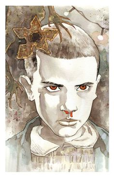 "Stranger Things ""Eleven"" art print 11x17 BRETT WELDELE"