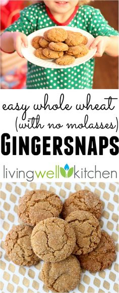 Easy Whole Wheat Gingersnap recipe without molasses from @memeinge. Full of gingery flavor and great for the holidays or for Christmas gifts