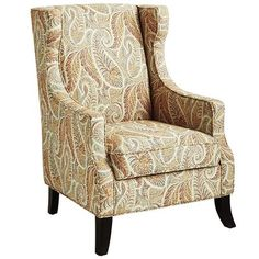 Alec Wing Chair - Sunset Paisley