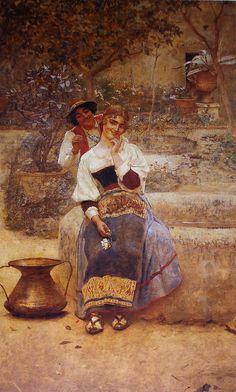 "Belmiro de Almeida:  ""Efeitos do sol"", 1893, oil on canvas, Museu Nacional de Belas Artes (MNBA), Rio de Janeiro, Brazil"