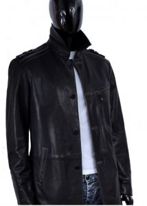 Płaszcz skórzany  męski DORJAN EML502