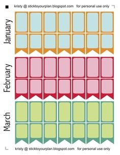 stick to your plan: Erin Condren Colors - Free Printables Jan feb March