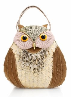 Metallic owl purse