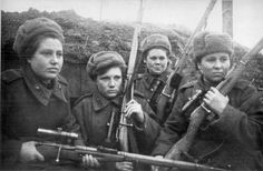 Soviet snipers with their Mosin rifles, 1944