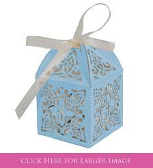 Blue Cross Favor Boxes for Baptism Favors for Boys at SetToCelebrate.com