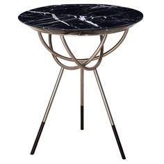 Atlas Satin Nickel End or Side Table by AVRAM RUSU STUDIO