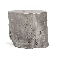 Exclusively at ABC, the Origin stool is natural forms with an edge. Made from resin that has been cast from a naturally fallen tree trunk, this rustic yet contemporary piece is finished in delicate silver leaf and doubles as a stylish side table. Each is one-of-a-kind.
