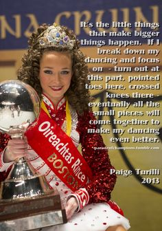 Saw this a while ago somewhere else. Nice to find again to show the girls. Great advice from Paige Turilli, multiple World Champion. And from the US to boot!