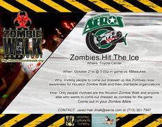 Zombie Walk On the Ice at the Aeros Hockey, Houston, TX