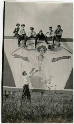 Young Men Climb on Aimee Semple McPherson Vintage Photo 1930'S | eBay