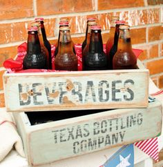 DIY vintage-style soda crates for your next party