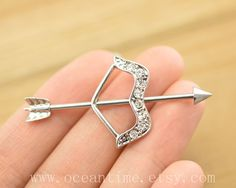 industrial barbell piercing,bow and arrow industrial barbell piercing jewelry, arrow ear jewelry,friendship gift,oceantime on Etsy, $8.59