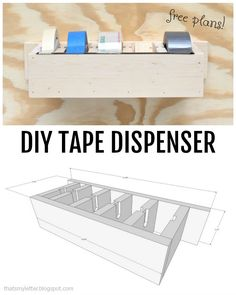 That's My Letter: DIY Tape Dispenser using a Ryobi Trim Router