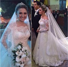 Cheap bridal gown, Buy Quality bridal dress directly from China vintage wedding dress Suppliers: trouwjurk Elegant Puffy Lace A line Bridal Gowns with Long Sleeves 2017 Boat Neck Vintage Wedding Dress Lace Bridal Dress 2016 Wedding Dresses, Bridal Dresses, Wedding Gowns, Dresses 2016, Bridesmaid Dresses, Wedding Rings, Country Western Wedding Dresses, Ivory Lace Wedding Dress, A Line Bridal Gowns