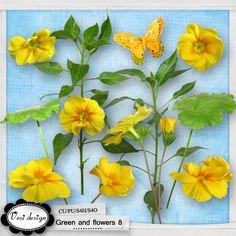 Green and flowers 8::18/03 - Wonderful Wednesday::Memory Scraps {CU}