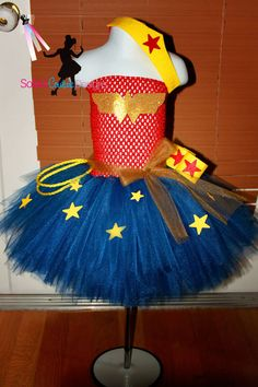 Wonder Woman tutu dress and costume by SofiasCoutureDesigns, $59.00