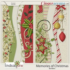 Memories of Christmas Borders by Lindsay Jane Scrapbook Borders, Scrapbook Embellishments, Scrapbook Supplies, Scrapbooking Layouts, Scrapbook Cards, Scrapbook Templates, Christmas Scrapbook Pages, Christmas Border, Candy Cards