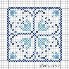 Part 12 Delft Tile Stitch-Along, 2012