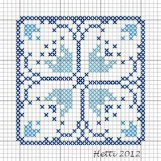 Part 12 Delft Tile Stitch-Along, 2012