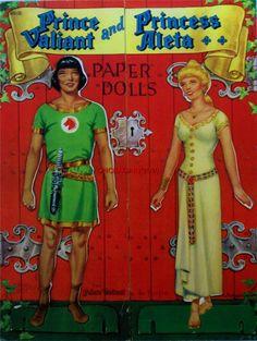PRINCE VALIANT  PRINCESS ALETA PAPER DOLLS * Free paper dolls at Arielle Gabriel's The International Paper Doll Society