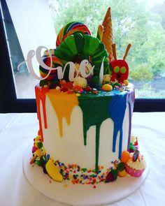 The very hungry caterpillar birthday cake. - The very hungry caterpillar birthday cake. The very hungry caterpillar birthday cake. Baby Boy 1st Birthday Party, 1st Birthday Cakes, First Birthday Parties, Birthday Banners, Farm Birthday, Birthday Invitations, Birthday Cake For Twins, Birthday Ideas, Hungry Caterpillar Cake