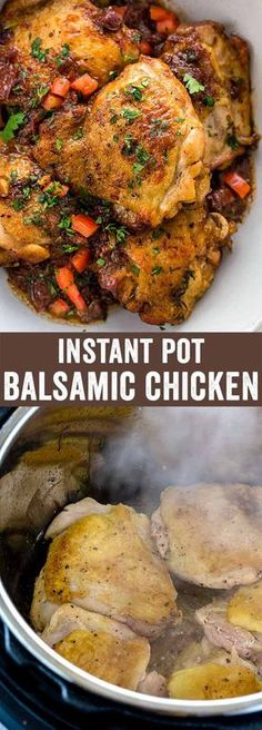 Instant pot balsamic chicken