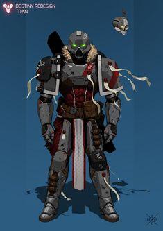 ArtStation - Destiny Redesign: 40k Titan, Erlend Capodanno