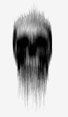 art / skull / vertical blur