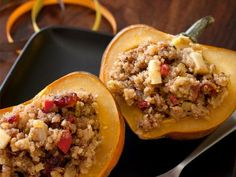 20 Classic Fall Recipes You'll Love: Wild Rice-Stuffed Squash http://www.prevention.com/food/cook/20-classic-fall-recipes?s=8