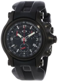 Oakley Men's Holeshot Stealth Unobtainium Limited Edition Chronograph Rubber Watch Oakley Watches, Rolex Watches, Wrist Watches, Bulova, G Shock, Rubber Watches, Sunglasses Sale, Luxury Watches For Men, Cool Watches