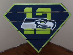 Seattle Seahawks 12th Man Superman sign made by MonicasFavThings