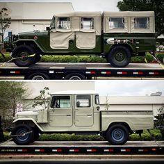 "vintagecruiser: "" Now That's a Good Looking Couple! - - - - - - - - - - - - - - - - - - - - - - #fj40 #ih8mud #bj40 #fj25 #fj45 #fj47 #hj45 #hj47 #vintage #4x4 #fjrestoration #vintagecruisers..."