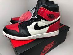 """eb1e443315f870 Air Jordan 1 Retro High OG """"Bred Toe"""" 555088-610 Gym Red  Black Size 11.5  shoes"""