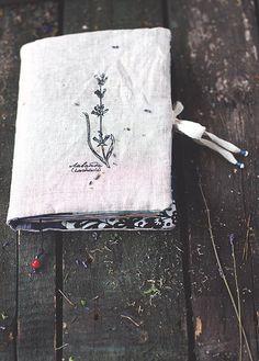 Лаванда Аромат мягкий ноутбук с травами - Текстильная Эко Дневник Журнал