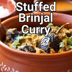 How to make gutti vankaya curry recipe. A classic and delicious Andhra style stuffed brinjals or baby eggplants curry made with onions, peanuts and spices. A wonderful gravy curry for rice or roti. Brinjal Recipes Indian, South Indian Chutney Recipes, Indian Eggplant Recipes, Indian Beef Recipes, Goan Recipes, Curry Recipes, Vegetarian Recipes, Cooking Recipes, Kitchen Recipes