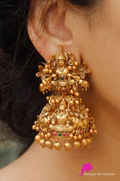 Earring Sets Shop In Chennai Indian Bridal Jewelry Sets, Indian Jewelry Earrings, Jewelry Design Earrings, Gold Earrings Designs, Antique Earrings, Jhumka Designs, Gold Jhumka Earrings, Gold Bangles Design, Gold Jewellery Design