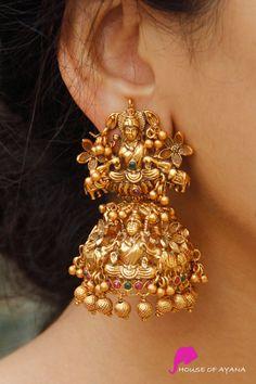 Earring Sets Shop In Chennai Indian Bridal Jewelry Sets, Indian Jewelry Earrings, Jewelry Design Earrings, Gold Earrings Designs, Antique Earrings, Jhumka Designs, Gold Jhumka Earrings, Big Earrings, Wedding Earrings