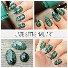 Use seran wrap to create these super easy jade stone nails.  I feel like I need to do these EVERY day!