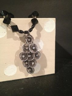 Gorgeous pendant necklace with individual round by NeckArtbyHelen, $34.50
