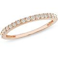 The most popular diamond cut for engagement rings, round-cut diamonds exceed all other cuts in brilliance and sparkle. Rose gold is often used to enhance diamonds and other gemstones. Wedding band Dia