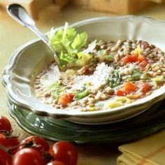 Tuscan Vegetable Soup - Embrace spring with this Italian-inspired veggie and bean soup.