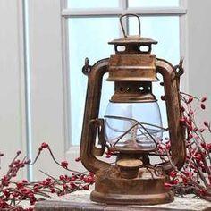 Reproduction Rusty Tin Railroad Lantern - Decorative Lighting - Lighting - Home Decor