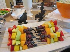 #BethesdaStyle ~ Girl Baby Shower Winnie the Pooh Theme Fruit on a Stick Appetizers!